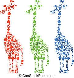 pontos, girafa
