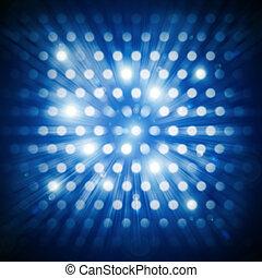 pontos, glowing, futurista, fundo