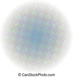 pontos, gradiente, óptico, radial