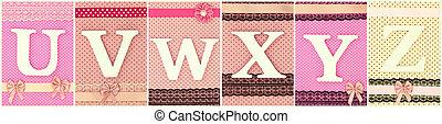 pontos, letras, w, madeira, polca, u, fundo, v, y, x, z
