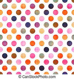 pontos, padrão, polca, seamless