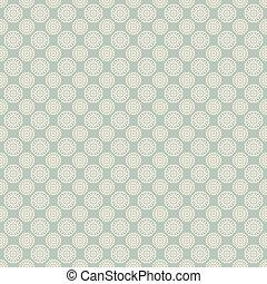 pontos, padrão, seamless, vetorial, (tiling)., floral