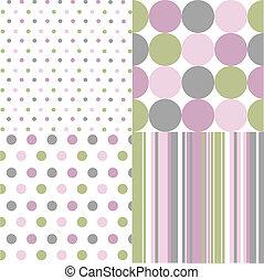 pontos, polca, seamless, padrões