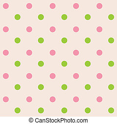 pontos polka, seamless, padrão