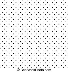 pontos, pretas, polca, seamless, padrão