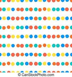 pontos, simples, listrado, padrão geométrico