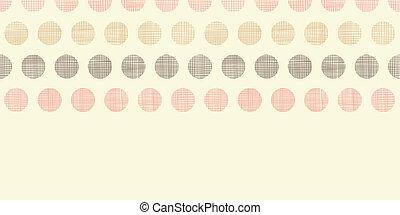 pontos, vindima, polca, seamless, têxtil, padrão experiência, horizontais, borda