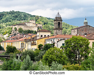 Pontremoli - ancient Medieval town in Italy.