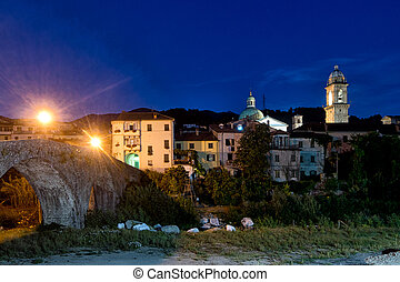 Pontremoli town, in Lunigiana, north Tuscany, Italy.