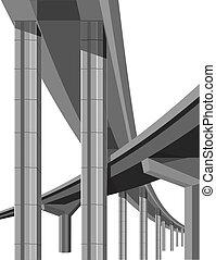 ponts, autoroute
