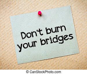 ponts, brulure, ton, pas