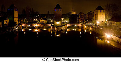 Ponts Couverts (Covered bridges), Strasbourg, Alsace, France