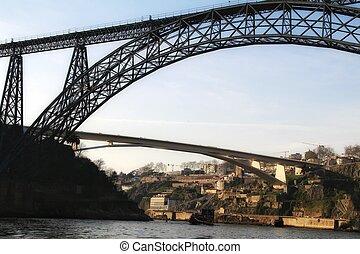 ponts, douro, appelé, fer, eaux, sur, rivière