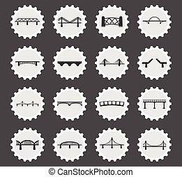 ponts, ensemble, icônes