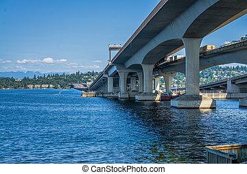 ponts, seattle, lac