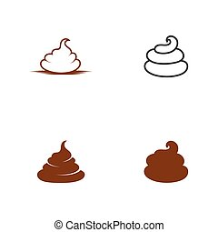 Poo vector icon illustration design template