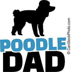 Poodle dad with dog silhouette