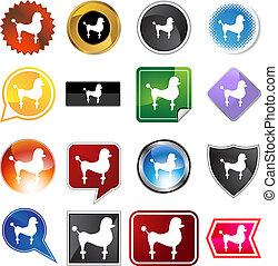 Poodle Icon Set