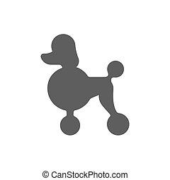 Poodle profile silhouette - Poodle dog profile silhouette....