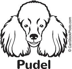 Poodle vector black icon logo