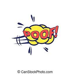 Poof Comic Speech Bubble