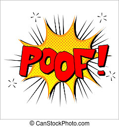 Poof sound effect illustration