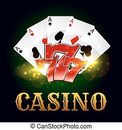 pook, casino, getal, gelukkig, spel, kaarten