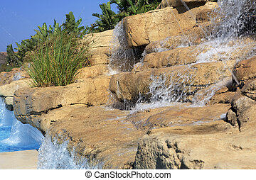 pool., 人工, 滝