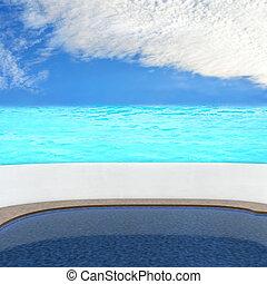 Pool - 3d rendered illustration