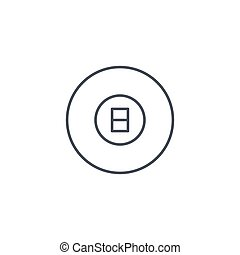Pool 8 ball, Billiard symbol thin line icon. Linear vector symbol