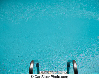 Pool and stairs on edge