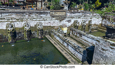 Pool at Goa Gajah ancient temple in Bali, Indonesia