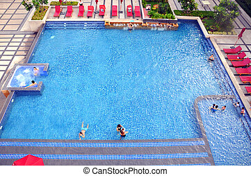 pool at the hotel in Thailand