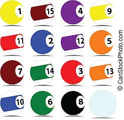 pool ball vector illustration