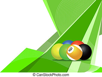 Pool balls, abstract design