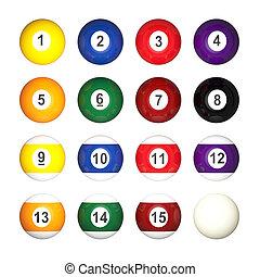 pool balls collection