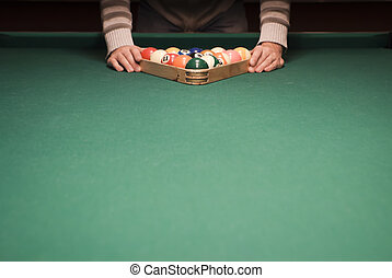 Pool (billiard) game - The start of the game of pool...