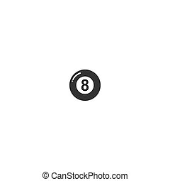Pool Billiard icon logo