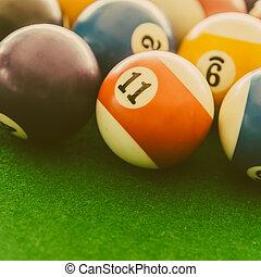 Pool billiards balls