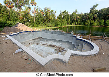 A Swimming Pool under construction in Florida