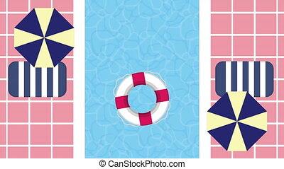 pool day vacations animations - pool day vacations time ,4k ...