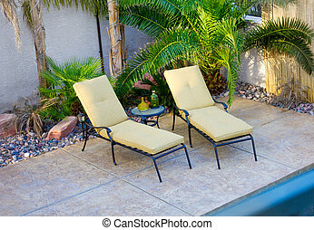 Pool Deck Lounge Chairs - An image of pool deck lounge...