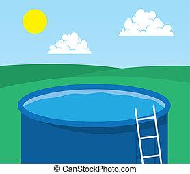Pool Empty  - Empty pool in back yard