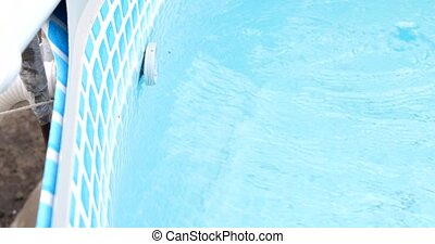 pool filter works in the blue swimming pool.