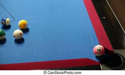 Pool game corner shot sink pink 12