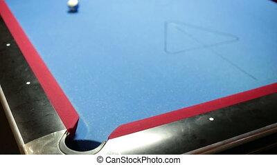 Pool game corner shot sink yellow