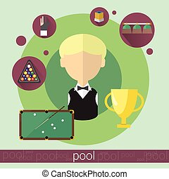 Pool Game Player Boy Billiards Icon