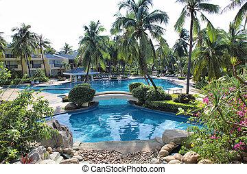 pool hotel exterior