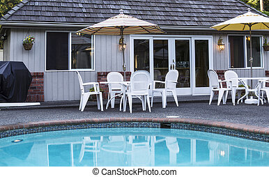 Pool House with Pool