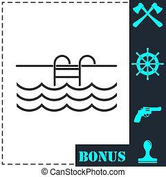 Pool icon flat